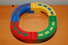Lot of 4 Lego Duplo Mono Rail Track Set Red Green and Yellow Train Track