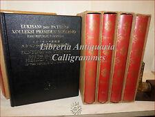 Collezione President SUKARNO of INDONESIA 5 voll Monografie Arte Dipinti Statue