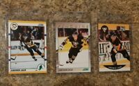 (3) Jaromir Jagr 1990-91 Score Traded Pro 1991-92 Superstar Rookie card lot RC