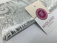 "Paisley Metallic Brocade Fabric 58"" wide for Jackets and waistcoats M350 Mtex"