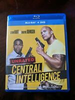 (Blu-ray) CENTRAL INTELLIGENCE (2016) Dwayne Johnson UNRATED EDITION Blu-ray/DVD