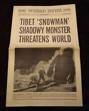 The Abominable Snowman of the Himalayas 1957 Vintage 4-Page Herald 0305