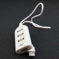 High Speed 2.0 USB 4 Ports External Hub AC Power Adapter For Laptop Hi-Q 1PC