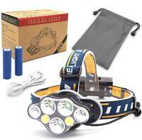 Linterna Frontal 7 LED 18000 Lumen USB Recargable de Cabeza Ligero Impermeable