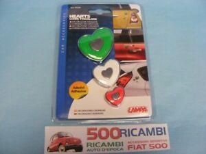 """FIAT 500 F/L/R 126 KIT ADESIVI """"CUORE"""" TRICOLORE ITALIA DECORAZIONE CROMATA AUTO"""