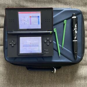 Nintendo DS Lite Handheld Console Red/Black with Case No Charger See Photos
