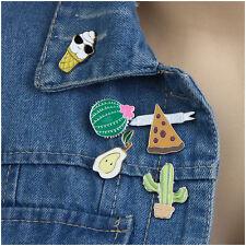 5pcs Enamel Jewelery Collar Pins Cacti Fashion Badge Corsage Cartoon Brooch