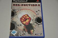 PLAYSTATION 2 gioco-Red Faction II-Action-TEDESCO COMPLETO ps2 OVP