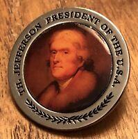 Thomas Jefferson President Of The USA Presidential Lapel Hat Pin Pinback