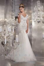 Panoply 44281 White Trumpet Tulle Pageant Gown Dress sz 2