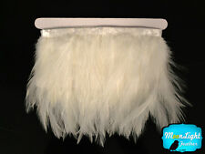 1 Yard - WHITE Rooster Neck Hackle Feather Trim