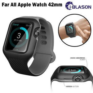 For Apple Watch iWatch 3 2 1 Series 42mm i-Blason Protective Case Strap Band New