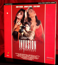 'INVASION OF PRIVACY' - Erotic Suspense Drama on 12-Inch Laser Disc, C-O but VG