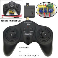 For DIY RC Boat Car Remote Control 6CH 2.4G Transmitter Receiver Receiving Board