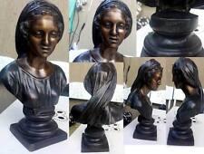 scultura in bronzo di Gemito-ragazza con velo tra i capelli