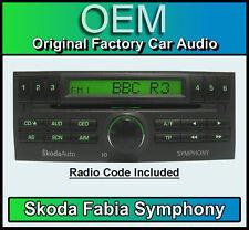 SKODA Fabia Car Stereo, SKODA SYMPHONY LETTORE CD CON CODICE Radio