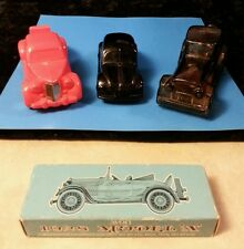 Vintage Avon Model A Vw Bug Rolls Royce Men's Cologne Decanters 1928 Model A Soa