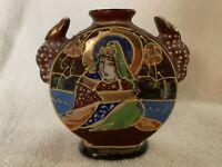 Takito Company Japanese Hand Painted Small Vase-Moriage-1920s-1940s