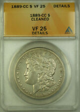 1889-CC Morgan Silver Dollar $1 ANACS VF 25 Details Cleaned (BCX)