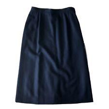 Pendleton Women's Size 8 Vintage Wool Midi Skirt Blue Straight Lined