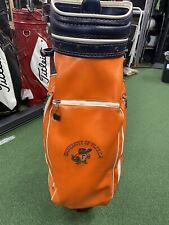"Vintage Florida Gators Golf Staff Bag 9"" Man Cave NCAA Cart"