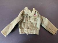 VINTAGE PAILITOY/HASBRO ACTION MAN GREEN JACKET GOOD CONDITION FOR AGE