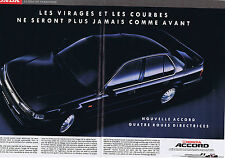 PUBLICITE ADVERTISING 064 1990 HONDA nouvelle Accord roues directrices (2 pages)