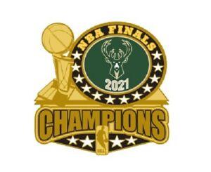 Milwaukee Bucks 2021 NBA Finali Champions Spilla Trofeo Stile Champs! Basket