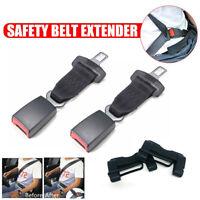 """2Set Car Adjustable Safety Belt Extender Extension 7/8"""" Buckle w/ Buckle Cover"""