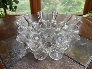 Vintage Glass 2 Layer 18 Cluster Bud Vase Propagation Station Flower Arrangement
