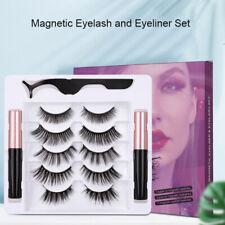 Impermeable Eyeliner magnético con 5 pares Pestañas Pinzas largas pestañas Kit Set