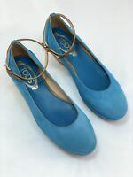 Tods Ankle Strap Suede Platform Wedge Pumps Shoes UK 4 1/2 / EU 37.5 RRP £419