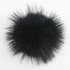 15cm Real Raccoon Mink Fur Pom Pom Press Stud Ball for Hat Shoe Bag Accessories