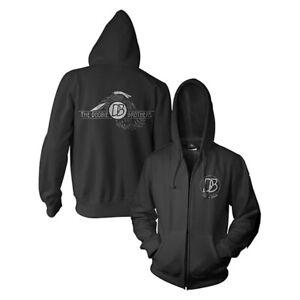 The Doobie Brothers Eagle Logo Black Hoodie Hooded Sweatshirt Mens 2XL Zip Up