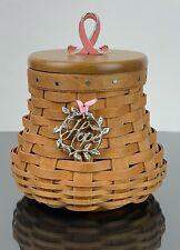Longaberger Hope Basket Breast Cancer Awareness Mint Condition!!