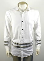 True Religion Men's Long Sleeve Collegiate Loose Fit Shirt Jacket - MSGBG8BR4