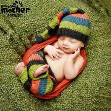 Baby Boy Newborn Knit Knot Hat and Pants Set Newborn Photo Props