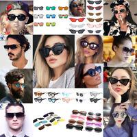 Vintage Women Men Small Oval Cat Eye Sunglasses Outdoor Sports Polarized Glasses