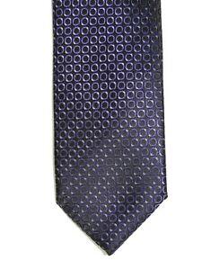 "Alfani Men's Poly Geometric Neck Tie Purple Black Slim 2.5"" x 60"""
