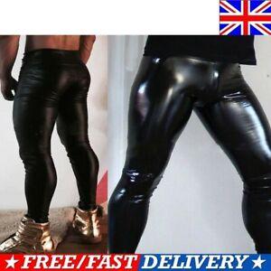 Black PVC Romper Pants With Leather No2-Catsuit Faux Leather PVC Wet Look SizeXL