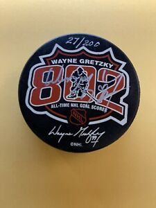 Wayne Gretzky Signed Auto Autographed Puck 27/200 UDA 802 Goal