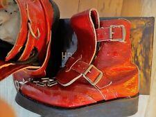 Vintage Vivienne Westwood Seditionaries Punk red patent croc skin BOY boots sz 4