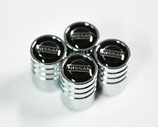 Silver Chrome Car Wheels Tyre Tire Air Valve Caps Stem Cover With Nissan Emblem