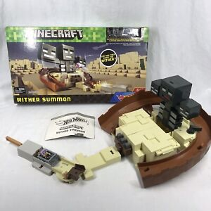 Rare Minecraft Hot Wheels Wither Summon Track Set Swivel Launcher Play Set