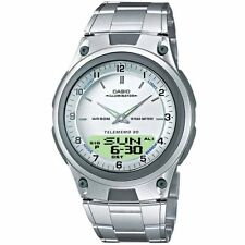 Casio Uhr AW-80D-7A Analog Digitaluhr Herren Edelstahl Silber Watch NEU & OVP