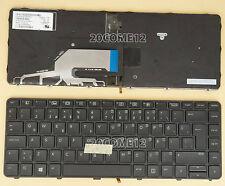 New For HP PROBOOK 640 G2 645 G2 KEYBOARD Turkish Klavye Backlit frame