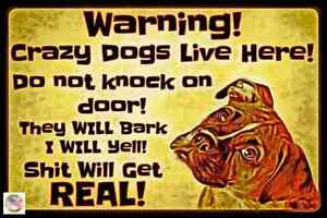 """BEWARE OF DOGS! 8""""X12"""" METAL SIGN USA MADE NO SOLICITING NO TRESPASSING KEEP OUT"""