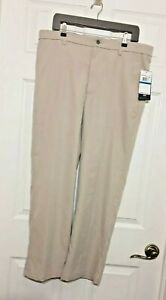 Callaway Men's Pro Spin Comfort Stretch Pant 36W x 30L Taupe Golf Pants ☆ NWT ☆