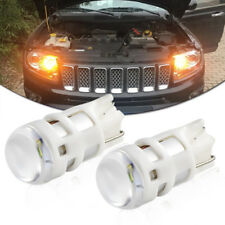 2Pcs Amber LED Bulbs Car Parking Lights Kit Universal 12V 4500K T10 W5W LED Bulb