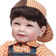 22'' Smile Realistic Reborn Baby Boy Doll Soft Vinyl Newborn Lifelike Baby Doll
